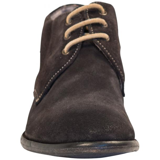Cala Dark Grey Suede Dip Dyed Desert Chukka Boots full-size #3