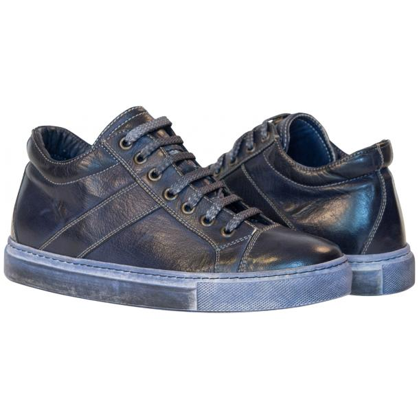 Esme Dip Dyed Denim Blue Low Top Sneakers  full-size #1