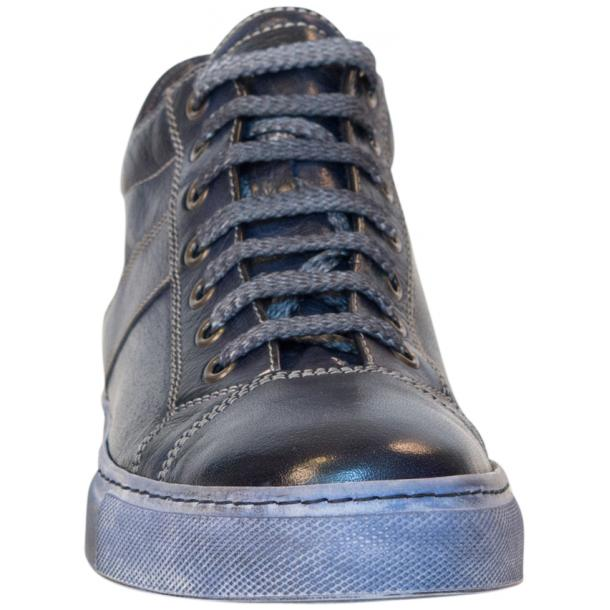 Esme Dip Dyed Denim Blue Low Top Sneakers  thumb #3