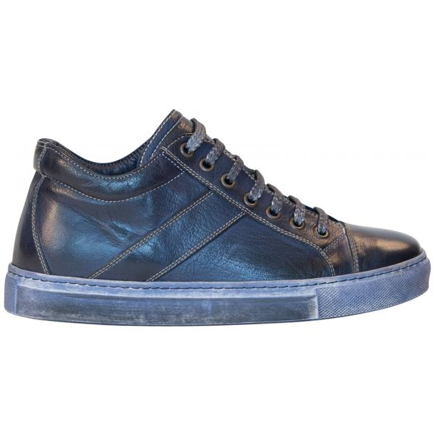 Esme Dip Dyed Denim Blue Low Top Sneakers  thumb #4