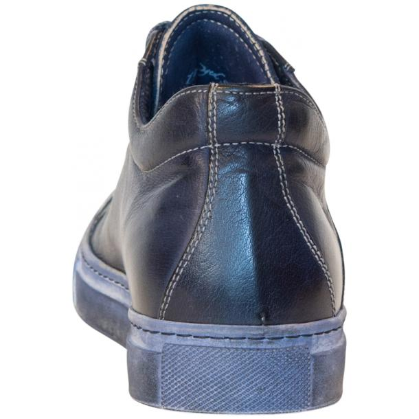 Esme Dip Dyed Denim Blue Low Top Sneakers  thumb #5