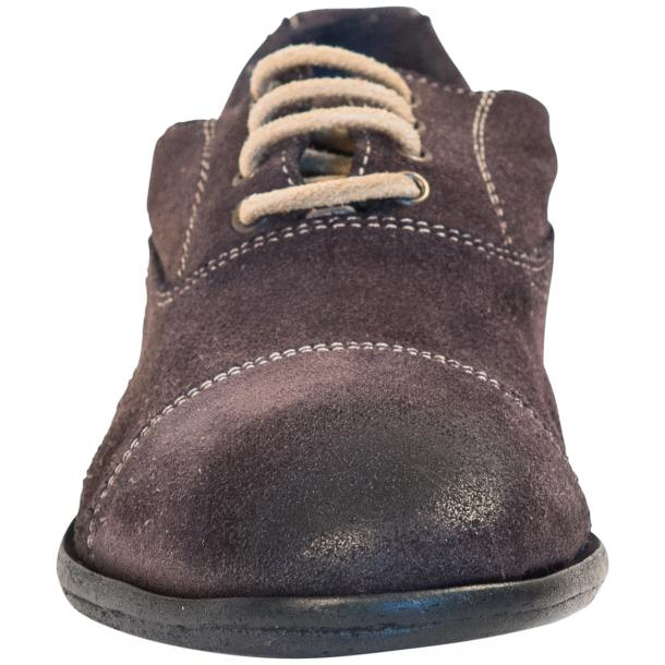 Natalie Dip Dyed Graphite Dark Grey Suede Oxford Shoes thumb #3