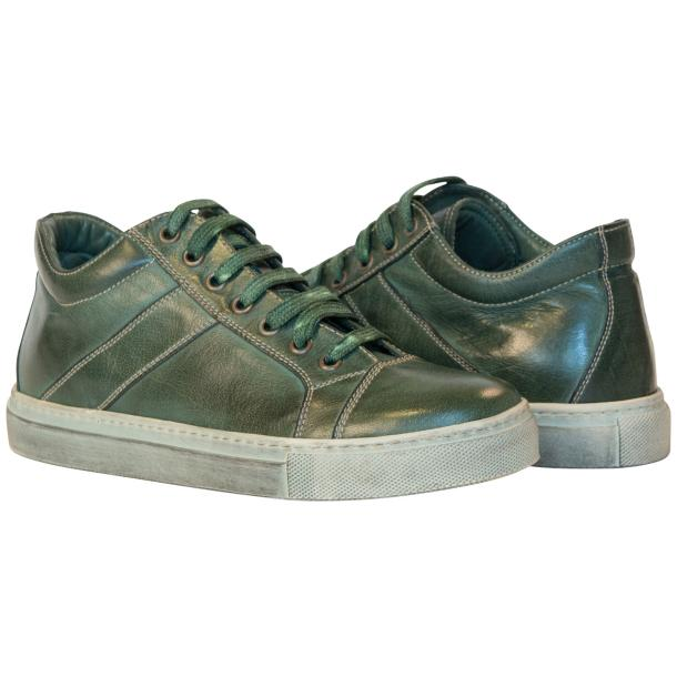 Esme Dip Dyed Forrest Green Low Top Sneakers  thumb #1