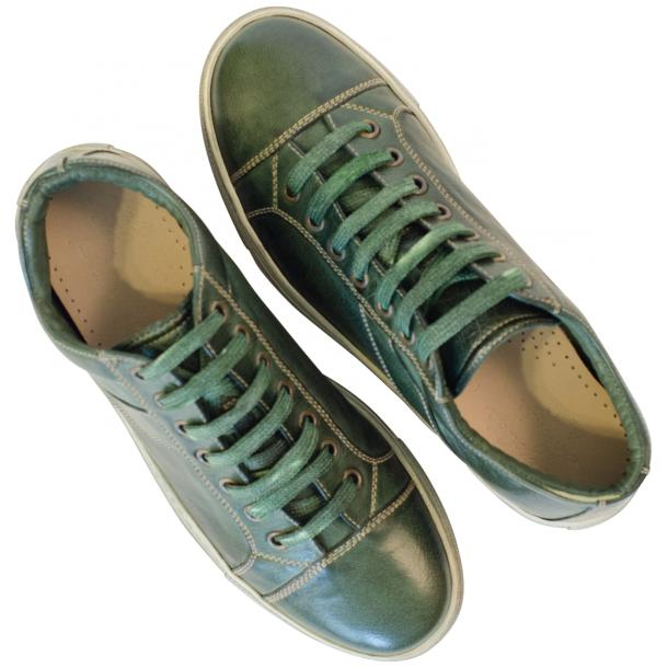 Esme Dip Dyed Forrest Green Low Top Sneakers  full-size #2