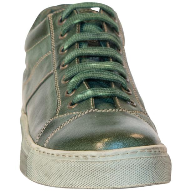 Esme Dip Dyed Forrest Green Low Top Sneakers  thumb #3