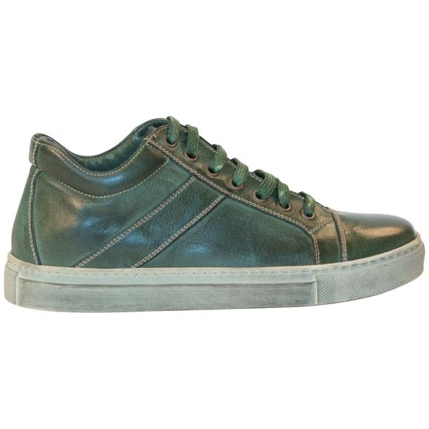 Esme Dip Dyed Forrest Green Low Top Sneakers  full-size #4