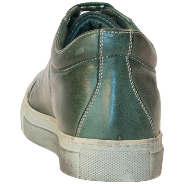 Esme Dip Dyed Forrest Green Low Top Sneakers  thumb #5