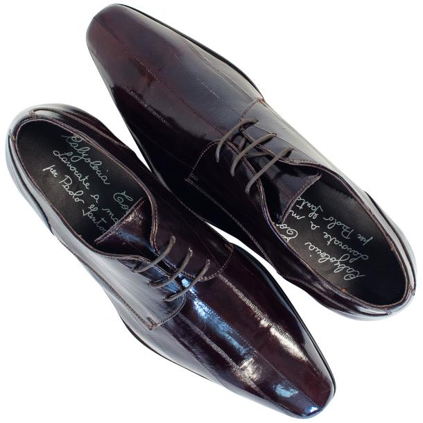 Marcel Dark Brown Eel Skin Lace-Up Dress Shoes thumb #2