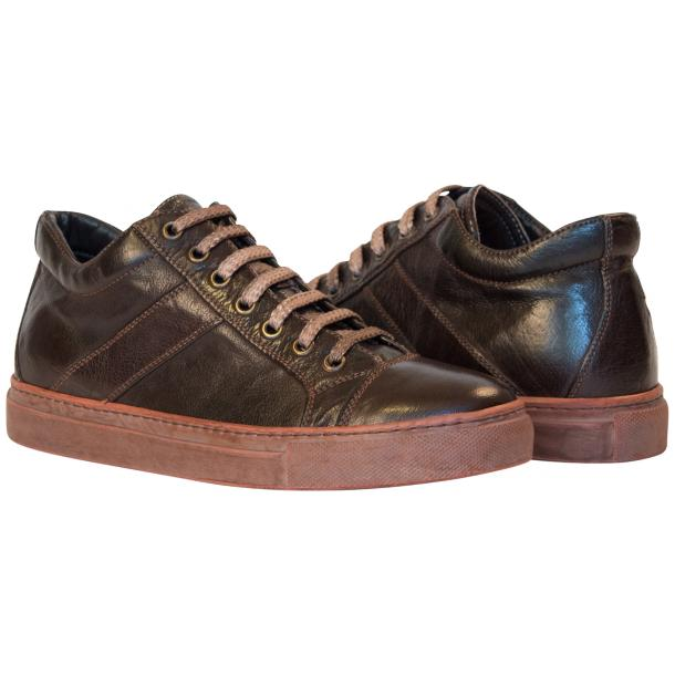 Amelie Dip Dyed Dark Brown Low Top Sneakers thumb #1
