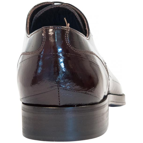 Marcel Dark Brown Eel Skin Lace-Up Dress Shoes thumb #5