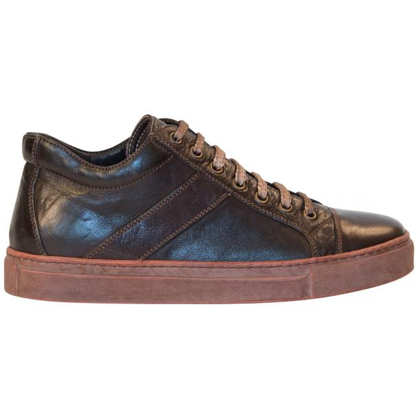 Amelie Dip Dyed Dark Brown Low Top Sneakers thumb #4