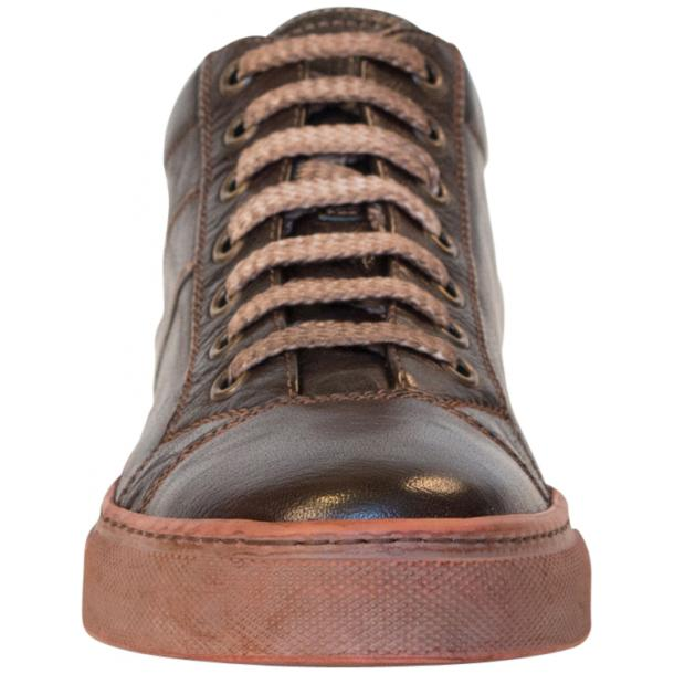 Amelie Dip Dyed Dark Brown Low Top Sneakers thumb #3