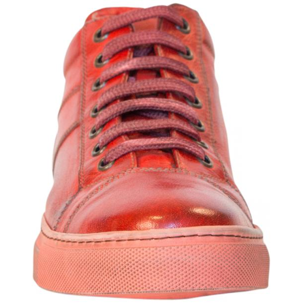 Amelie Dip Dyed Flame Red Low Top Sneakers  full-size #3