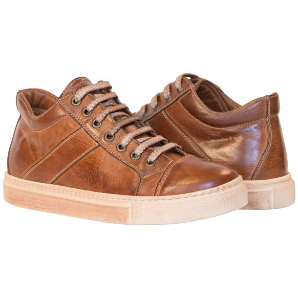 Amelie Dip Dyed Brown Low Top Sneakers  thumb #1