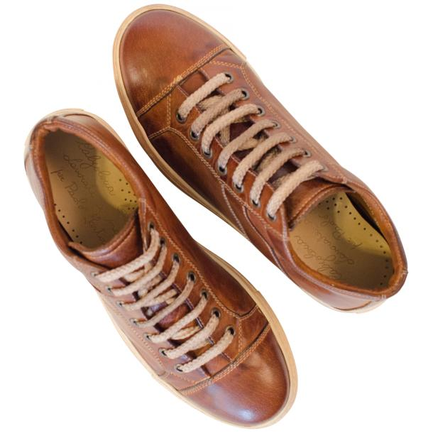 Amelie Dip Dyed Brown Low Top Sneakers  thumb #2