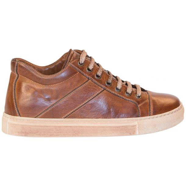 Amelie Dip Dyed Brown Low Top Sneakers  full-size #4