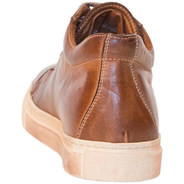Amelie Dip Dyed Brown Low Top Sneakers  thumb #5