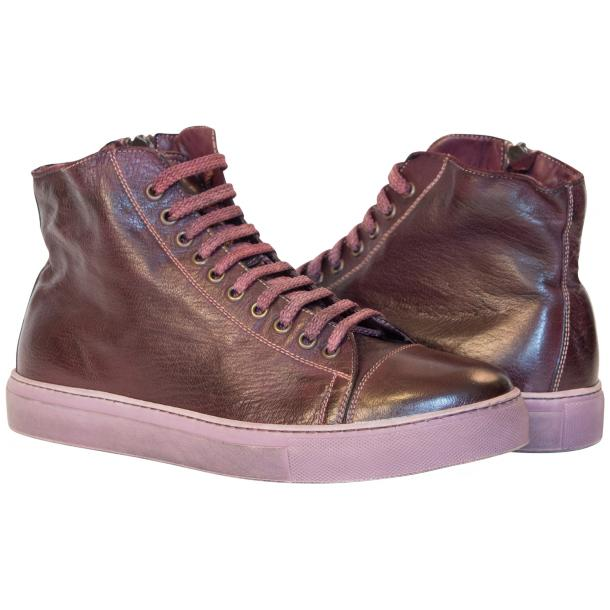 Samantha Dip Dyed Burgundy High Top Sneaker full-size #1