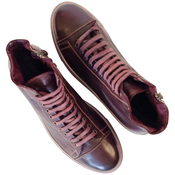 Samantha Dip Dyed Burgundy High Top Sneaker thumb #2