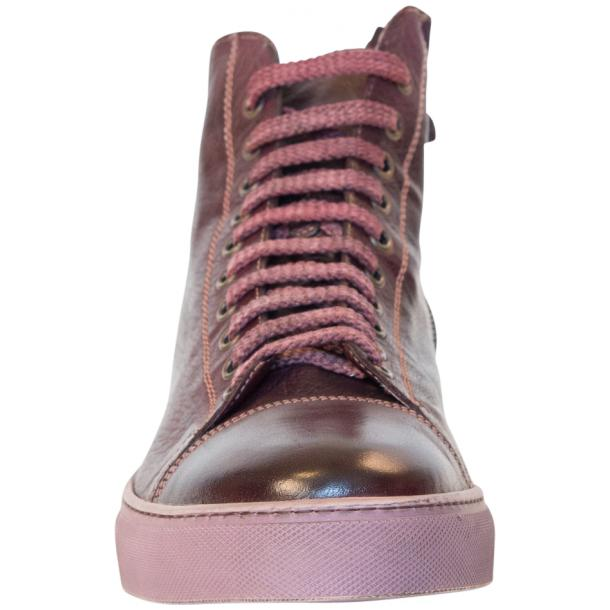 Samantha Dip Dyed Burgundy High Top Sneaker thumb #3