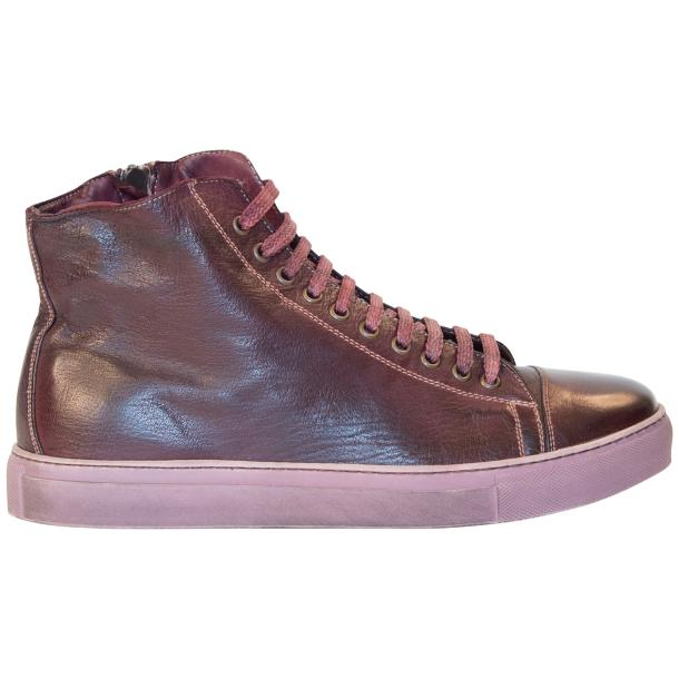 Samantha Dip Dyed Burgundy High Top Sneaker thumb #4