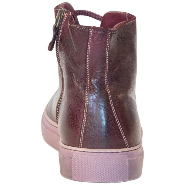 Samantha Dip Dyed Burgundy High Top Sneaker thumb #5