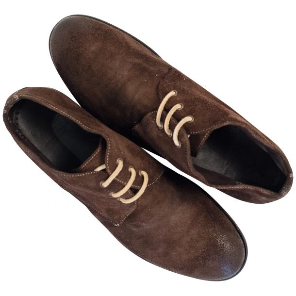 Cala Chocolate Brown Suede Dip Dyed Desert Chukka Boots full-size #2