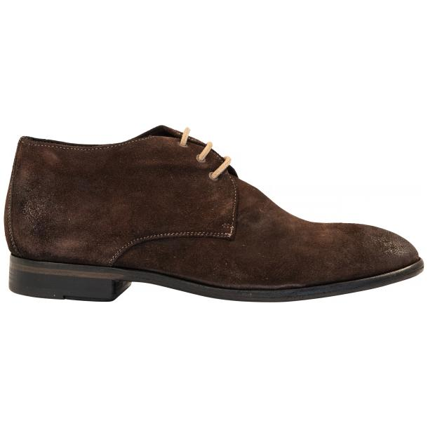 Cala Chocolate Brown Suede Dip Dyed Desert Chukka Boots full-size #4