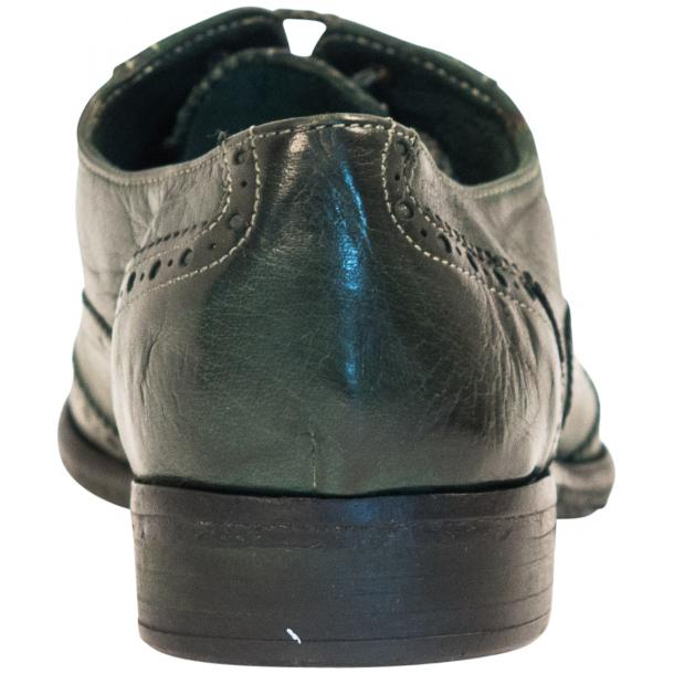 Ashley Dip Dyed Green Leather Oxford Lace Up Wing Tips thumb #5