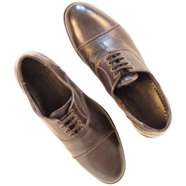 Melissa Dip Dyed Stone Grey Leather Oxford Shoes full-size #2
