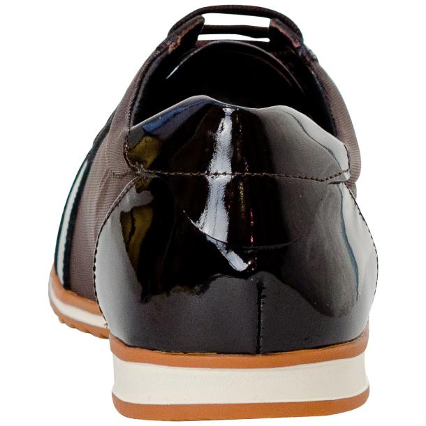 Paola Brown Patent Leather Low Top Sneakers  thumb #5