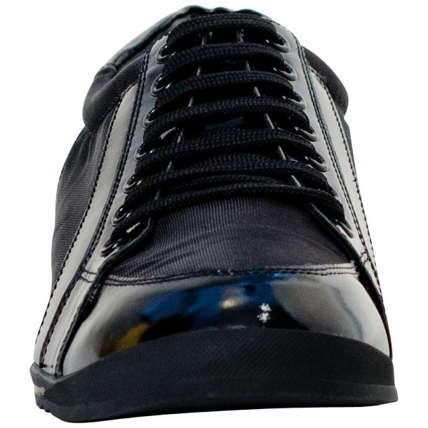 Paolo Black Patent Leather Low Top Sneakers  thumb #3