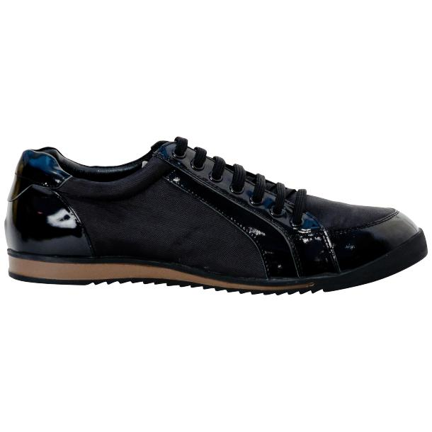 Paolo Black Patent Leather Low Top Sneakers  thumb #4