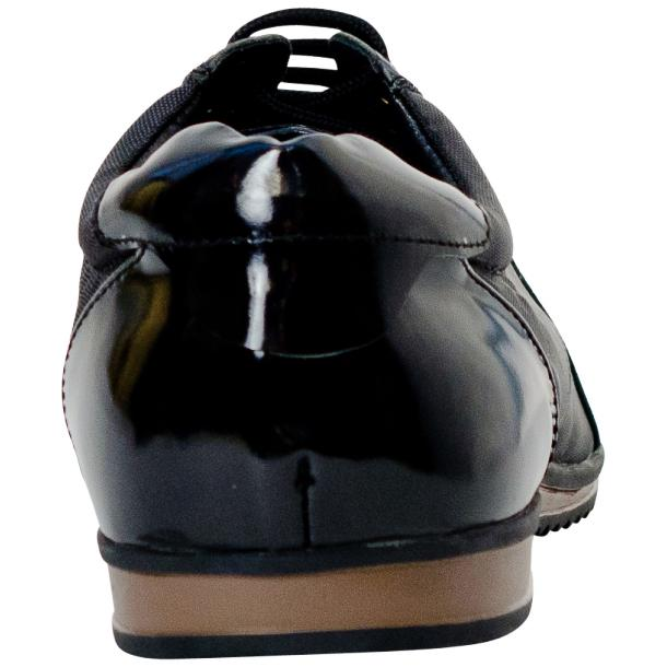 Paolo Black Patent Leather Low Top Sneakers  thumb #5