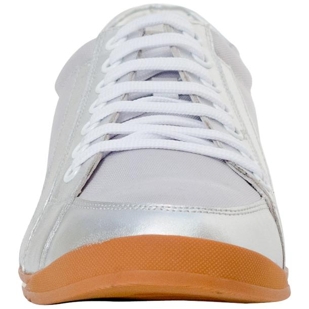 Paola Silver Patent Leather Low Top Sneakers  thumb #3