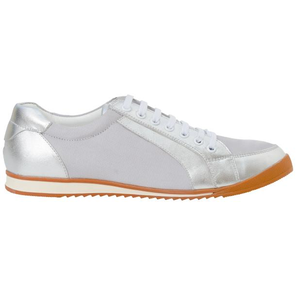 Paola Silver Patent Leather Low Top Sneakers  thumb #4