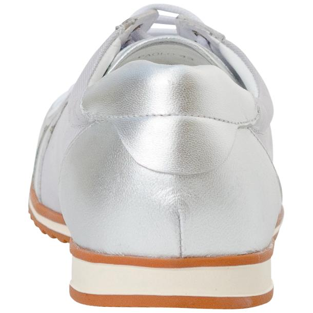 Paola Silver Patent Leather Low Top Sneakers  thumb #5