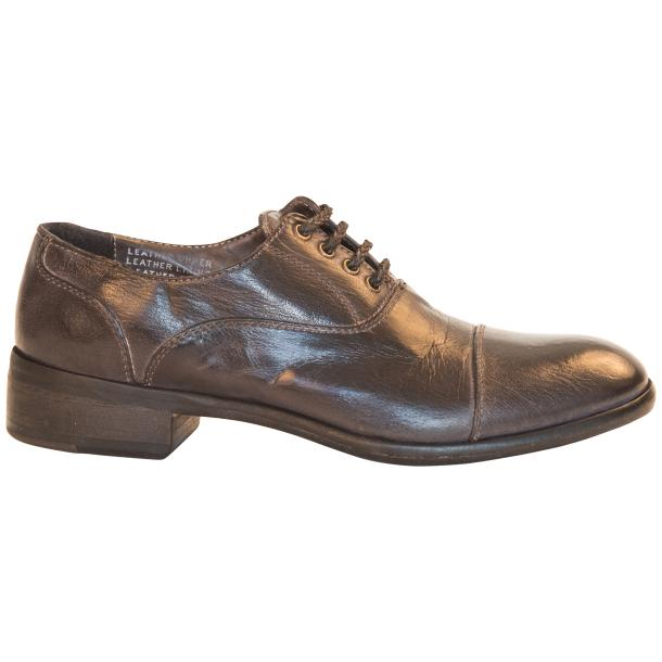 Melissa Dip Dyed Stone Grey Leather Oxford Shoes thumb #4