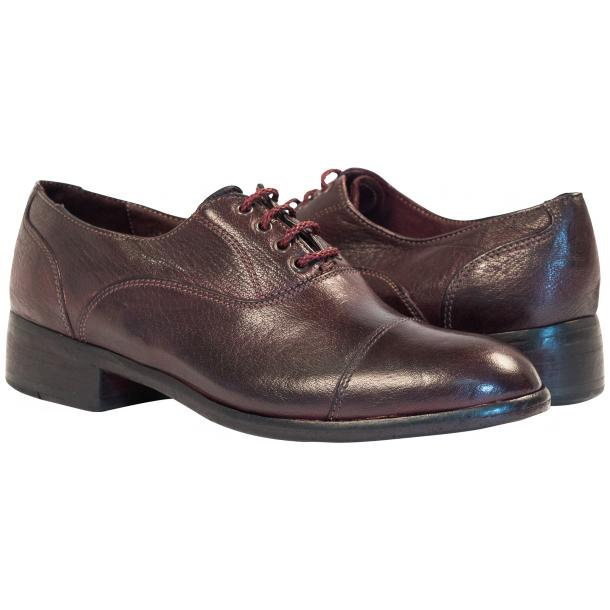 Melissa Dip Dyed Oxblood Red Leather Oxford Lace Up Shoes full-size #1