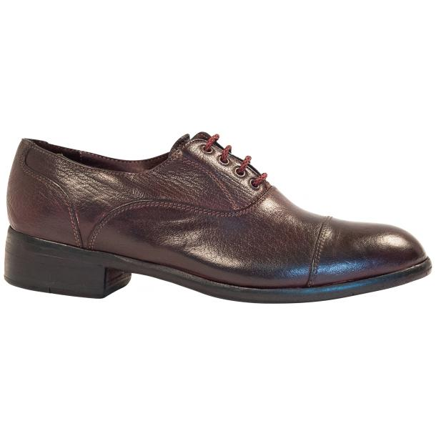 Melissa Dip Dyed Oxblood Red Leather Oxford Lace Up Shoes thumb #4