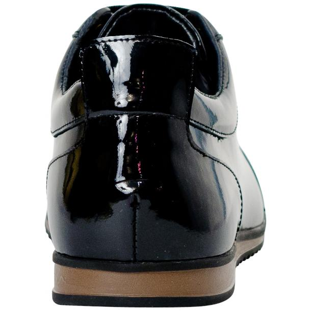 Britney Black Patent Leather Low Top Sneakers thumb #5
