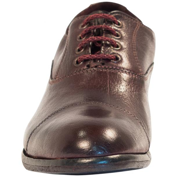 Melissa Dip Dyed Oxblood Red Leather Oxford Lace Up Shoes thumb #3