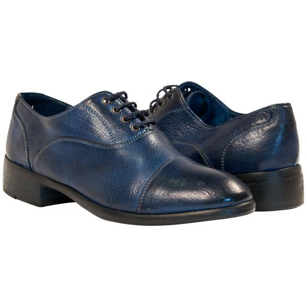 Melissa Dip Dyed Blue Leather Oxford Lace Up Shoes full-size #1