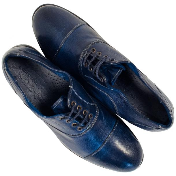 Melissa Dip Dyed Blue Leather Oxford Lace Up Shoes thumb #2