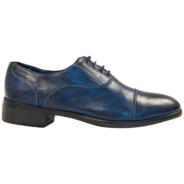Melissa Dip Dyed Blue Leather Oxford Lace Up Shoes thumb #4