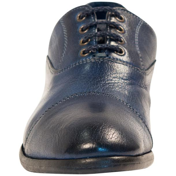 Melissa Dip Dyed Blue Leather Oxford Lace Up Shoes thumb #3