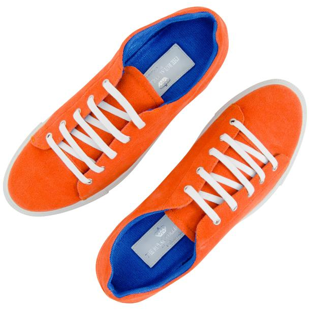 Piper Orange Suede Low Top Sneakers  thumb #2