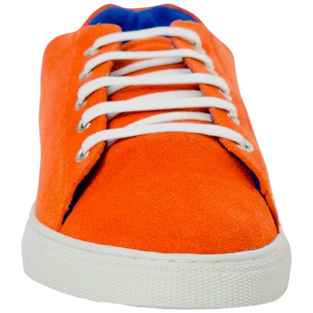 Piper Orange Suede Low Top Sneakers  full-size #3