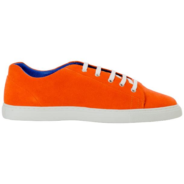 Piper Orange Suede Low Top Sneakers  thumb #4