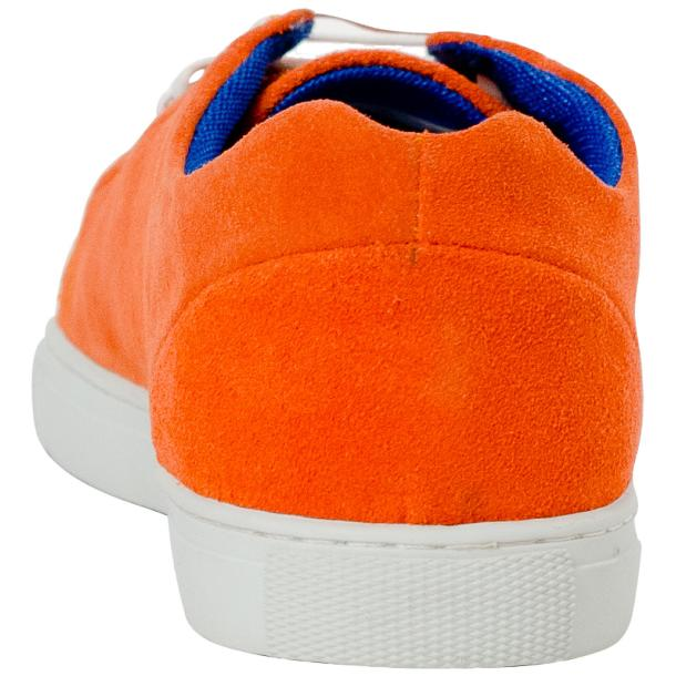Piper Orange Suede Low Top Sneakers  full-size #5